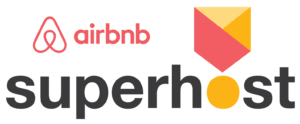 Logo Air b&b superhost badge