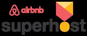 Logo Air b&b superhost badge
