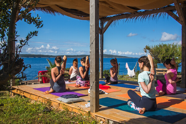 Yoga retreat by the sea